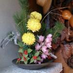 オルゴン水で生けたお花の写真