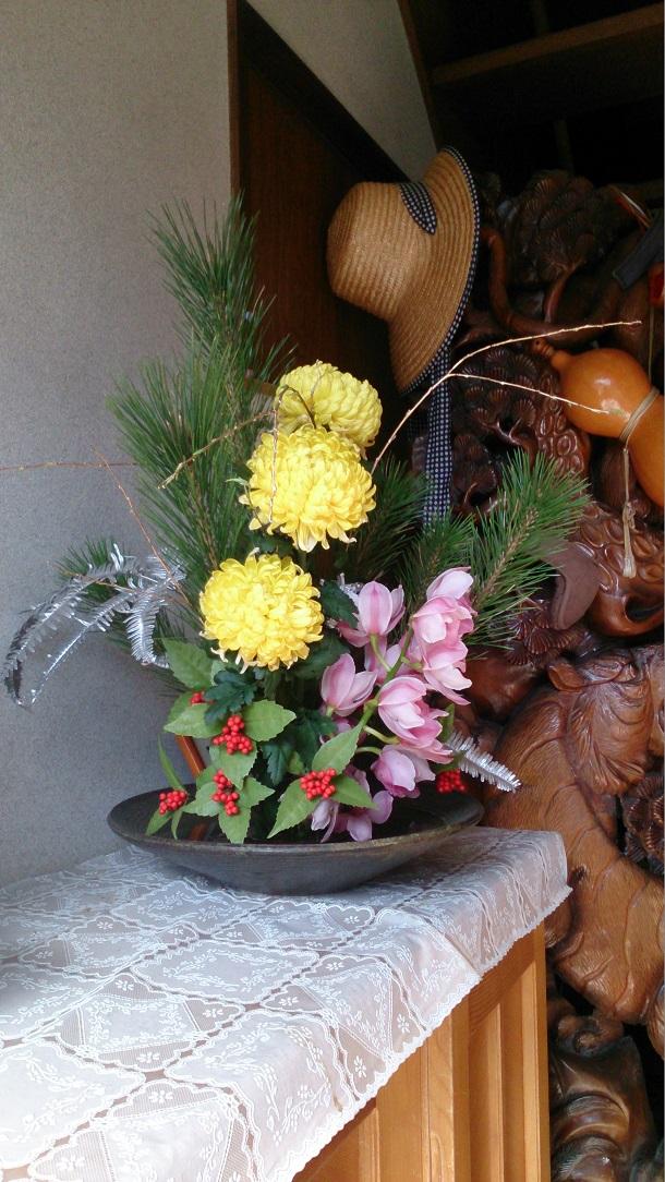 オルゴン水で生けたお花